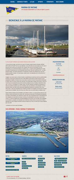 La Marina de Matane, un autre site fait par un utilisateur de notre solution Mon site Primo