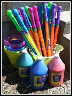 Paint/Water Guns from Dollar Tree
