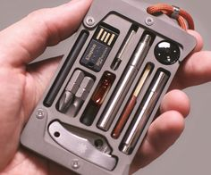 They fix our thing all the time and probable more than once he was in a situation that he neaded some tool kit for car or on a outdoors trip. This way he will always have his little tool kit with him-Survival Credit Card Holder