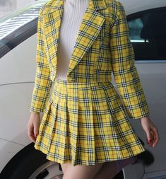 17 images about ch. cher horowitz on We Heart It Clueless Outfits, Cute Outfits, Cher Clueless Costume, Cher Horowitz, Mellow Yellow, New Wardrobe, Aesthetic Clothes, Pink Aesthetic, Fashion Outfits