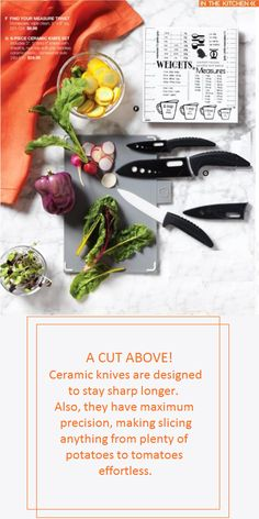 6 Piece Ceramic Knife Set Includes: 13 and 15 cm L knives with sheaths. Non-slip soft grip handles. Ceramic Knife Set, Knife Sets, Kitchen Gadgets, Knives, Dishwasher, Plastic, Ceramics, Ceramica, Dishwashers