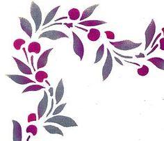 cherries stencil - Google Search