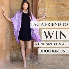 To celebrate the start to an amazing new year we're giving you the chance to WIN A ONE SIZE FITS ALL Violet Mist Kimono  a Tie Dye Kokomo Wrap Sarong  Perfect for a day at the beach or a summer night on the town   Simply TAG a friend (you can enter as many times as you like)  you MUST be following @bijou_the_label  Competition closes at midnight tomorrow (10.01.17 AEDT) winner will be picked at random & announced 11.01.17  Good luck