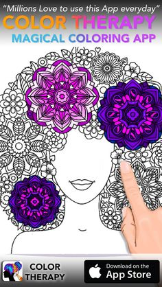 Color Therapy Adult Coloring Book For Adults On The App Store