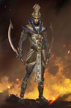 Fantasy Character Design, Character Design Inspiration, Character Concept, Character Art, Dnd Characters, Fantasy Characters, Digital Art Gallery, Egypt Art, Tatoo Art