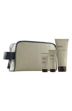 AHAVA Men's Starter Kit ($23.80 Value) | $18.00 Nordstrom Exfoliating Cleansing Gel (0.68 oz.) - Foam Free Shaving Cream (3.4 oz.) - Soothing After-Shave Moisturizer (0.51 oz.) - Travel bag.