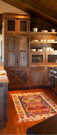 Rustic kitchen area