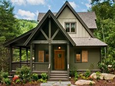 Exterior Home Paint Ideas Full Size Of House Colors Green Mountain Home Paint Colors Lake House Exterior Exterior Home Paint Colors 2016 Cottage Exterior Colors, House Paint Exterior, Exterior Paint Colors, Exterior Design, Paint Colours, Rustic Exterior, Cabin Paint Colors, Exterior Shutters, Rustic Cottage