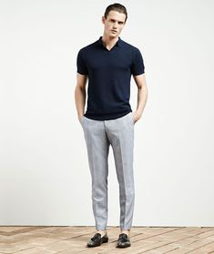 Checked grey trousers, dark polo and loafers Summer Fashion Outfits, Casual Outfits, Summer Outfit, Fashion Tips For Women, Mens Fashion, Classy Fashion, Petite Fashion, Hijab Fashion, Stylish Men