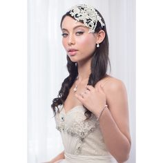 'Marchesa' Mother of Pearl & Diamonte Bridal Lace Cap – Roman & French - Leader in Bridal Jewellery, Wedding Hair Accessories, Bridesmaids Dresses and Wedding Gifts. Bridal Comb, Bridal Hair Vine, Hair Comb Wedding, Headpiece Wedding, Bridal Headpieces, Bridal Flowers, Bridal Lace, Loose Hairstyles, Wedding Hairstyles