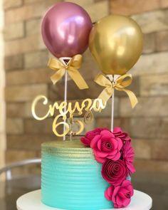 Creative Cake Decorating, Creative Cakes, Birth Cakes, How To Make Wedding Cake, Elegant Birthday Cakes, Balloon Cake, Ombre Cake, Cakes For Women, 30th Birthday Parties