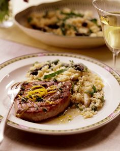Grilled tuna steak and cous cous
