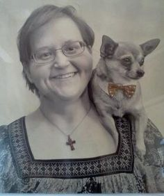 Bentley and me. Our new picture together.  <3