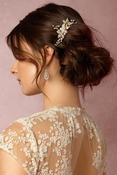 BHLDN Rosina Floral Comb in  Shoes & Accessories Headpieces at BHLDN