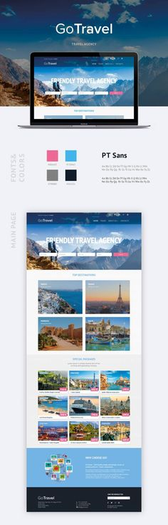 The concept of web site for travel agency