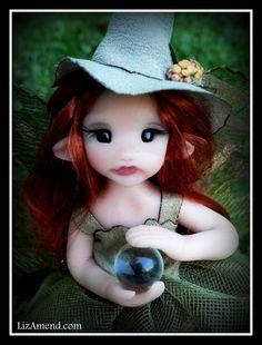 Witch With Crystal Ball  www.Liz Amend.com
