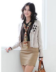 office fashion, corporate fashion, scarf, coat, business attire