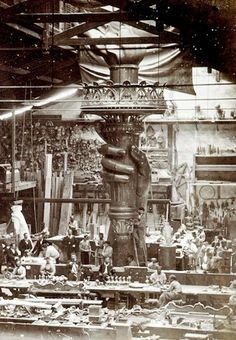 Conjuring the Flame: Construction of the Statue of Liberty, France c. 1876 via Belle Époque Europe