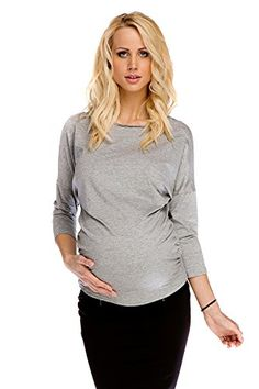 1516560bd987 My Tummy Womens Maternity Top Party Rachel Lace Bow Back Grey Gray S small      To view further for this item