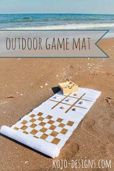 Outdoor Game Mat   15 DIY Outdoor Family Games