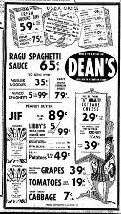 Dean's Vintage Ad, Vimco Spaghetti, Centre Daily Times, State College, PA, September 13, 1971, pg 8 (Viviano Macaroni Co, Carnegie, PA)