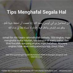 Sedikit tips bagi yg ingin menghafal semoga bermanfaat  #instagram #islam #kajianislam #tips by kajianislam