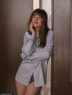 The relevant plug: Swift posted an Instagram video in which a bit of the song played over a montage from the upcoming Fifty Shades Of Grey Sequel, starring Dakota Johnson (pictured)