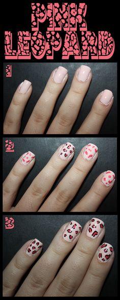 Pink leopard mani! Cute!