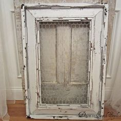 Repurpose frames with chicken wire - SO many ideas/options!!