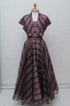 Evening dress with shawl 1950. M
