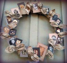 herinneringskrans met foto's