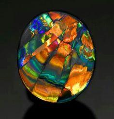 Black opal- good luck, spiritual growth