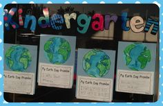 Earth Day Art project for kindergarten.