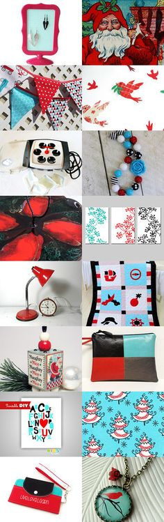 Red and Aqua by Carla on Etsy--Pinned with TreasuryPin.com