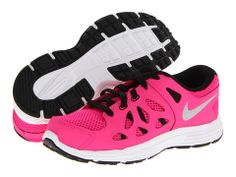 Nike Kids Fusion Run 2 (Little Kid) Pink Foil/Black/White/Metallic Silver - Zappos.com Free Shipping BOTH Ways