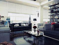 18 black living room