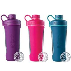 Mix your protein shakes and fruit smoothies with ease when you use the BlenderBottle Radian Shaker Bottle. This super stylish, odor-resistant shaker bottle features a center-mounted spout and includes a wire whisk ball for premium ingredient mixing.