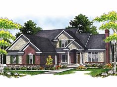 New American House Plan with 2448 Square Feet and 4 Bedrooms from Dream Home Source | House Plan Code DHSW40293