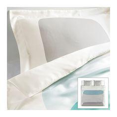 IKEA - MALIN FIGUR, Funda nórd y 2 fundas almohada, 240x220/50x60 cm, , La ropa de cama de satén de lyocell tiene un brillo especial y un tacto sedoso que resulta muy agradable.Tela fácil de mantener; sólo requiere planchar por encima.Los corchetes a presión ocultos mantienen el edredón en su sitio.