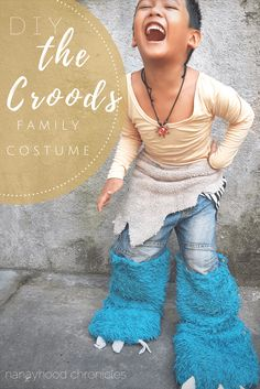 DIY The Croods Family Halloween Costume -- I finally did it! Just in time for the Halloween! See how I pulled-off Guy's costume for my son and Grugg and Ugga's costume for my husband and me in this post! Halloween Costumes To Make, Easy Diy Costumes, Homemade Costumes, Halloween Books, Halloween Season, Family Halloween, Halloween Themes, Halloween Party, Halloween Projects