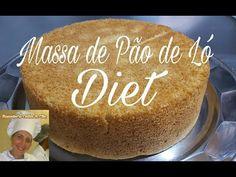 Massa de Pão de Ló Diet ( Zero, Açúcar ), Bolo Diet, Aro 20 - YouTube