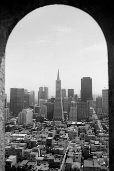 View From Coit Tower, San Francisco (1985) James Danis photog.