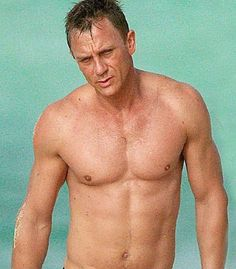 Daniel Craig!  I like big pecs and I cannot lie!