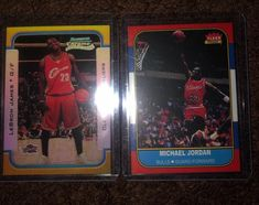 Your getting both of these reproduction rookie cards of Michael jordan and lebron James with free shipping Jordan Bulls, Nba Sports, Lebron James, Michael Jordan, Trading Cards, Jordans, Baseball Cards, Free Shipping