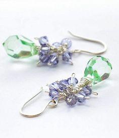 Earrings Lavender Cluster