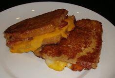 Heaven? I think it just might be. -- Beer Battered Grilled Cheese