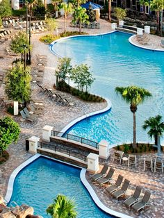 Soak up the warm Florida sun at the Hyatt Regency Orlando, a relaxing resort only minutes from the Orlando International Airport and all the area's major fun-filled theme parks. With two sparkling pools, a fully equipped fitness center and a rejuvenating spa, Hyatt Regency Orlando is the perfect escape. Natural Swimming Pools, Swimming Pools Backyard, Pool Landscaping, Lap Pools, Natural Pools, Indoor Pools, Pool Decks, Need A Vacation, Vacation Trips