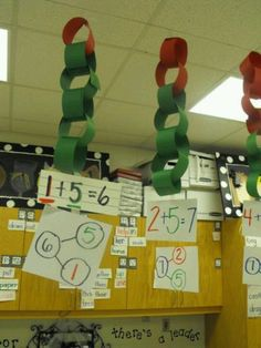 Paper chains are low-prep, simple ways to visually display fact families and number bonds.