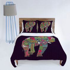 DENY Designs Home Accessories | Sharon Turner Painted Elephant Duvet Cover