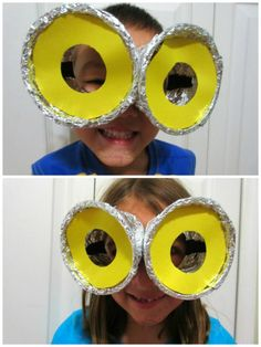 SavingSaidSimply.com - DIY Despicable Me Minion Goggles Kids Craft